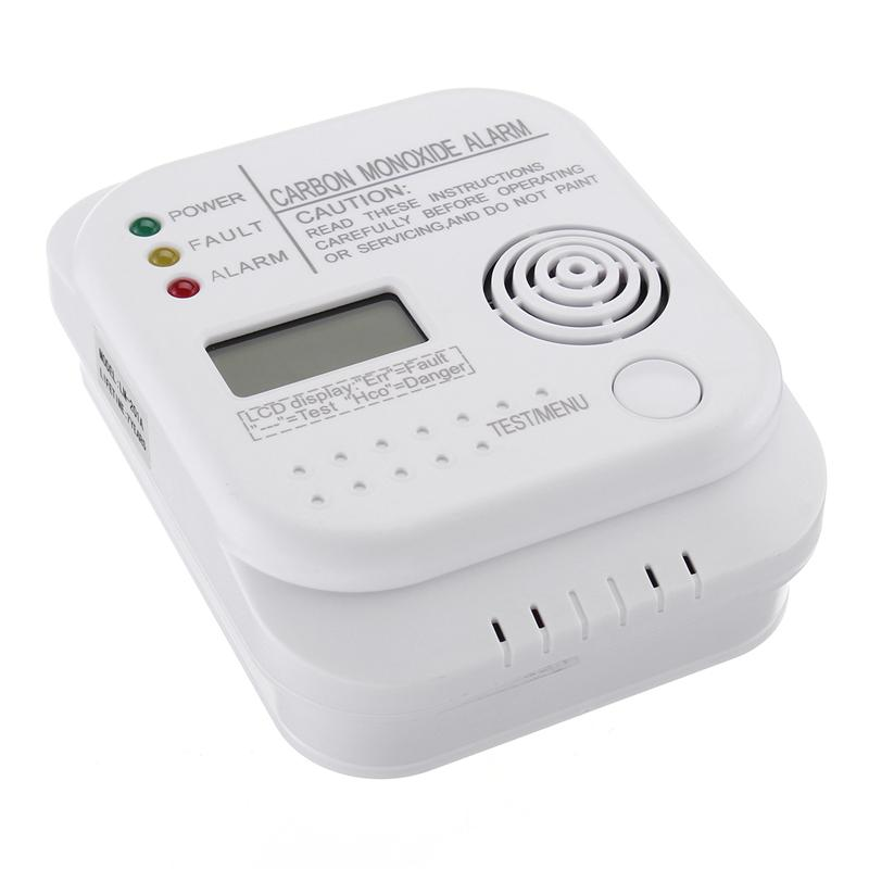 цена CO Detector Carbon Monoxide Monitor with Alarm System Gas Leak Detector CO Meter Portable Gas Detector Gas Analyzer CO Sensor