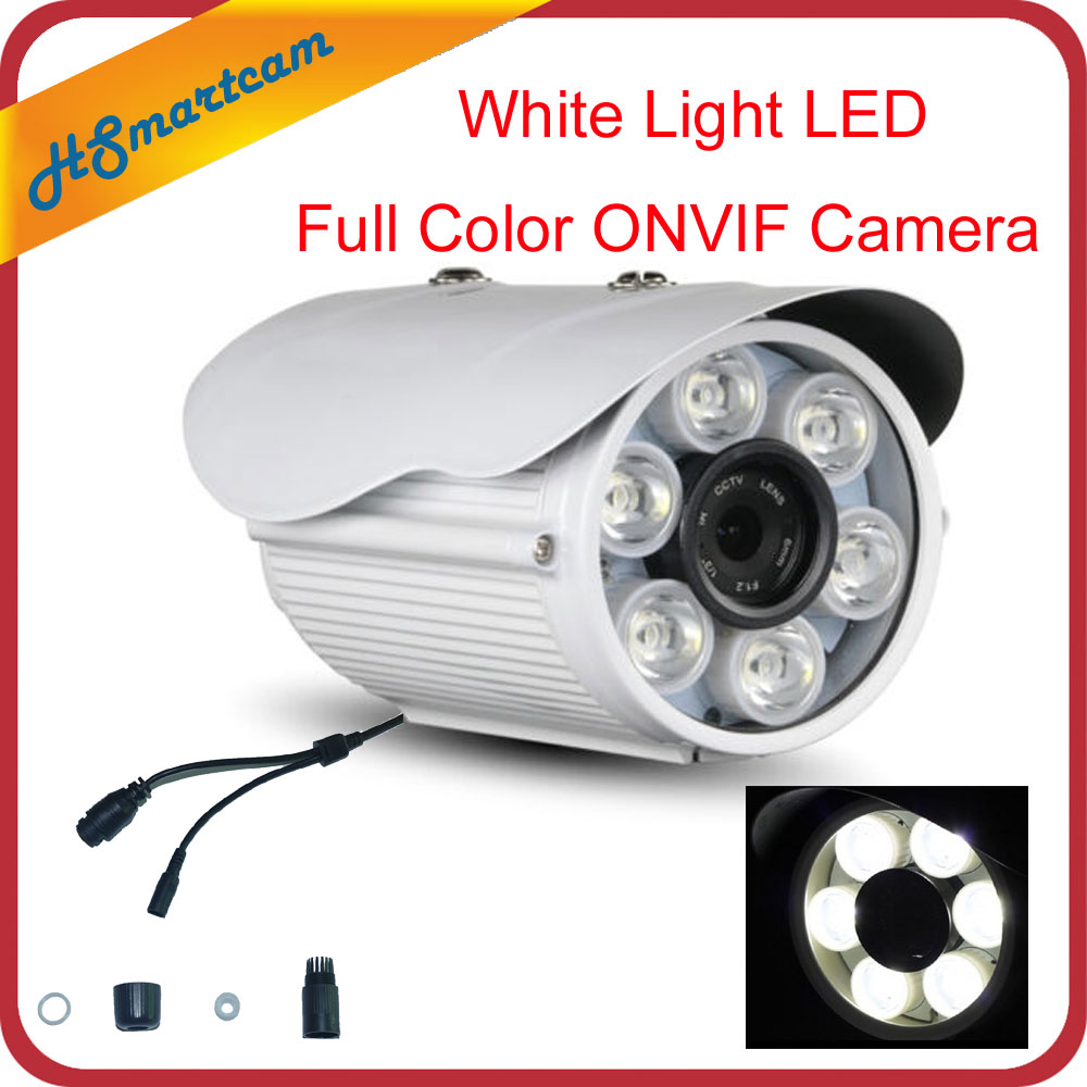 1080P IP ONVIF P2P Camera HD Network CCTV Outdoor Security White Light LED Full Color For HD NVR Kits