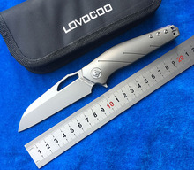 LOVOCOO Apologist S35VN blade Titanium handle Flipper Folding knife hunting outdoor camping survival fruit Knives EDC tools Gift lovocoo tactical ii fixed cpm s35vn blade knife outdoor knives hunting straight knife kydex sheath camping survival edc tools