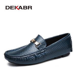 Image 5 - DEKABR Brand New Slip On Casual Shoes Men 2021 Top Fashion Loafers Mens Moccasins Shoes Handmade Driving Flats Shoes For Men