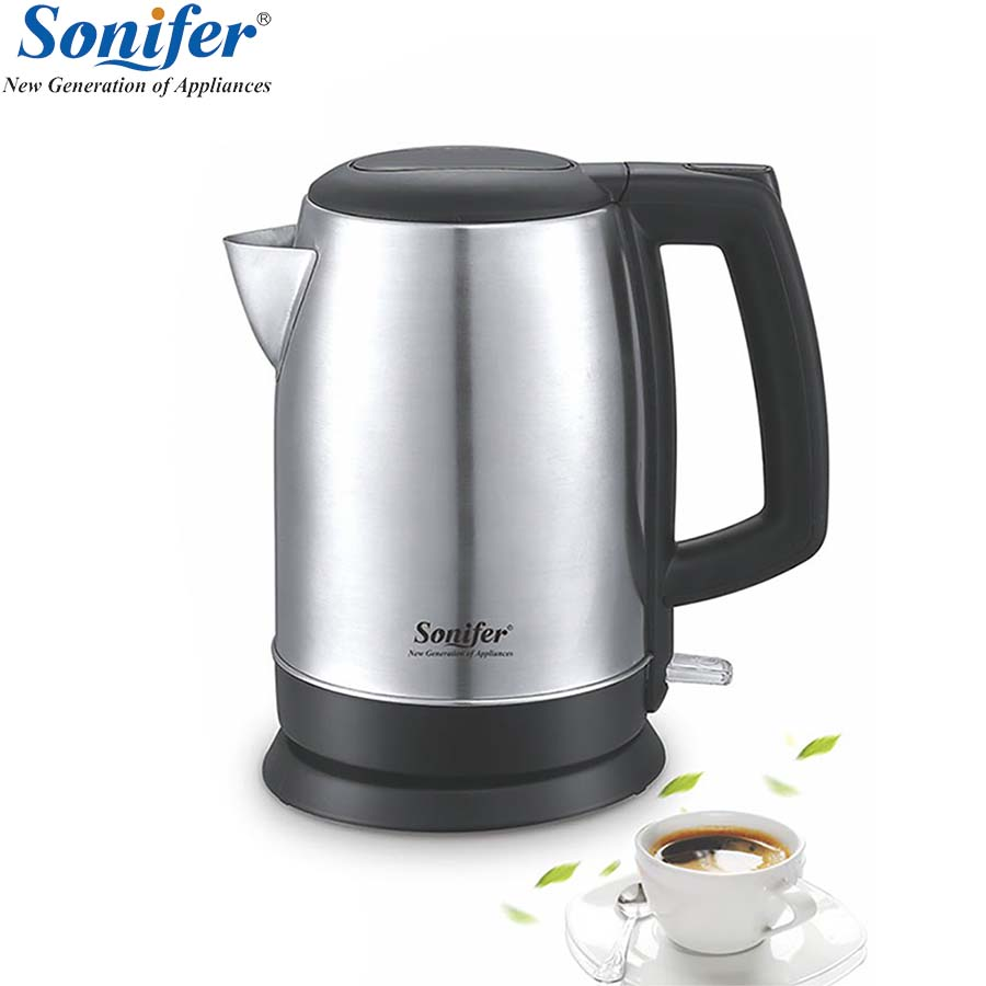 304 stainless steel Electric Kettle 1.7L 220V 1500W Household Quick Heating Electric Boiling Pot Sonifer electric kettle boiling pot 304 stainless steel home insulation 1 7l