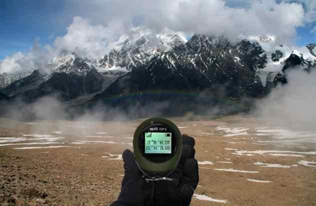 Kebidumei Keychain Cầm Tay Mini GPS Navigation USB Sạc Vị Trí Tracker với Compass Cho Ngoài Trời Du Lịch Leo Núi