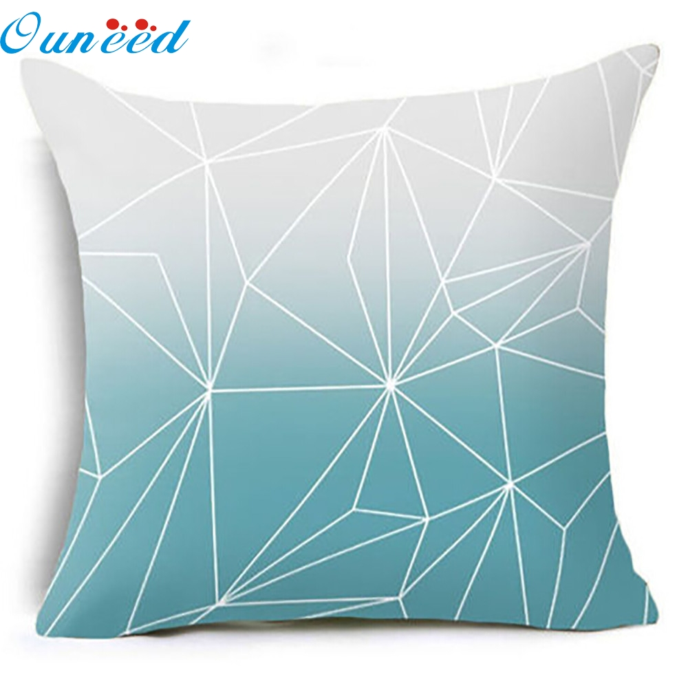Scandinavian Geometry Pillows Case Geometric Throw Pillow Cushions Cover Rectangle Blue Leaf Dear Sea Pillo C1n2 Pillow Case Aliexpress