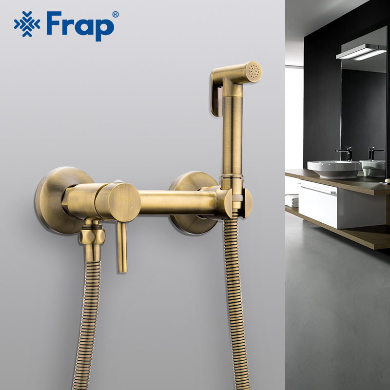 FARP Bidet faucets bronze head shower hygienic shower spray airbrush tap hot cold mixer toilet spray