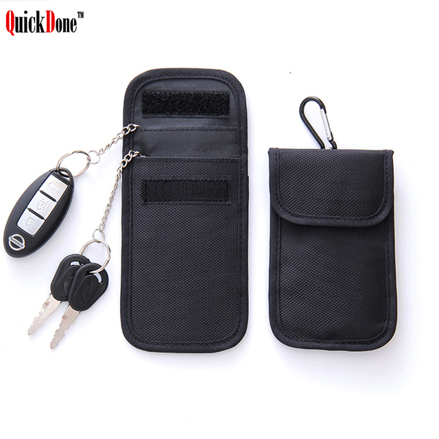 2eddf90ca QuickDone Hot Sale Faraday Car Keys Storage Bag Card Key RFID Signal  Blocker Bags FOB Shielding