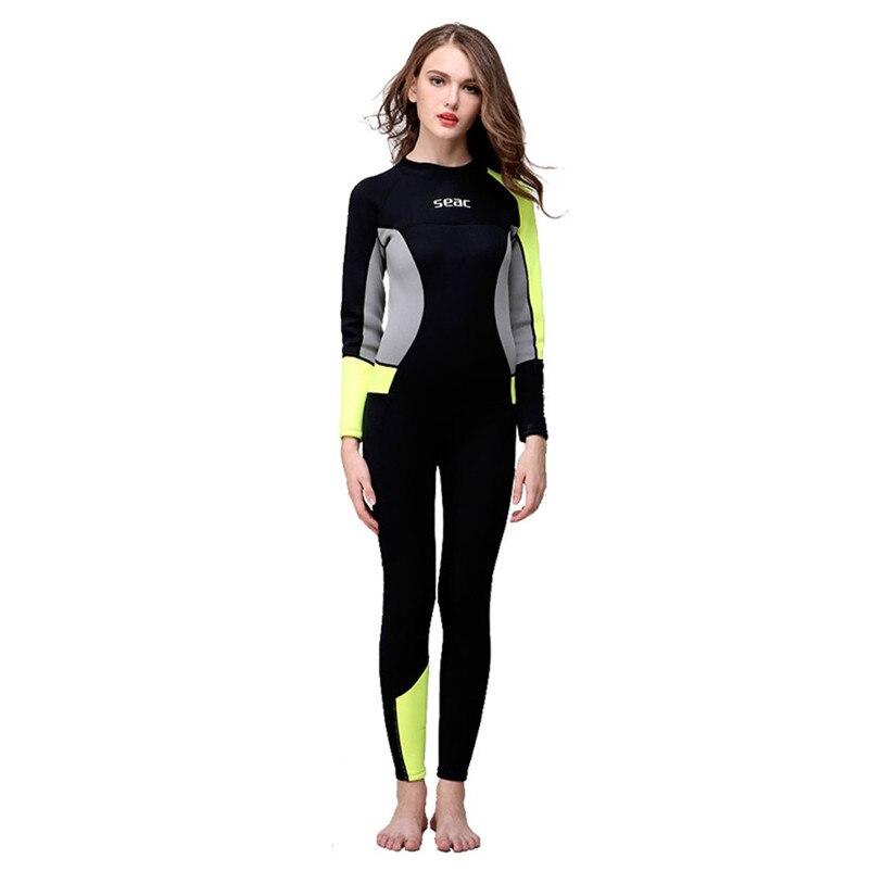 2019 Ultra-mince chaud combinaison de plongée femmes 3MM Sunblock néoprène combinaison pour plongée sous-marine surf corps complet séchage rapide crème solaire