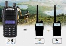 Profissional dupla banda vhf uhf walkie talkie 10km ptt vox para portátil rádio cb estação útil uv82 baofeng uv 82 handphone