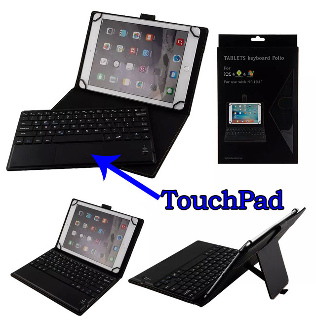 3in1 Universal Dechatable Bluetooth Keyboard W Touchpad Pu