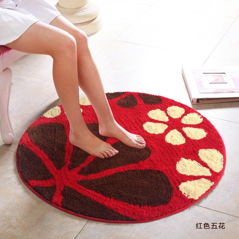 Superfine Fiber tapis rond accueil entrée/couloir paillasson ordinateur chaise tapis de zone salle d'étude tapis de sol pastorale tapis de fleurs