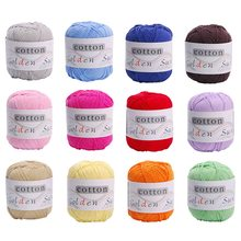 11Colors Warm DIY Milk Cotton Wool Baby Kids Wool For Knitting Children Hand Knitted Soft Knit Blanket Crochet Yarn(China)