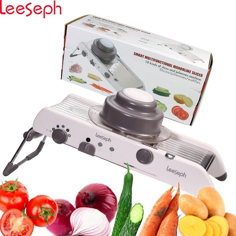 Réglable Mandoline Trancheuse-Multi-fonctionnelle Légumes Râpe Shredder Slicer Cutter Set, Accessoires de cuisine