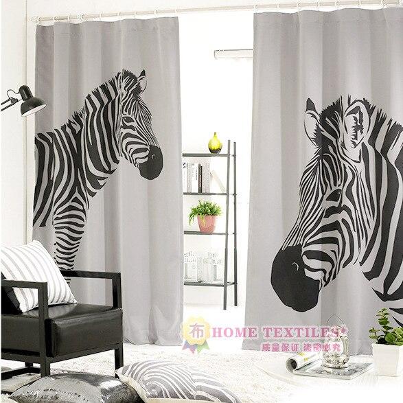 Online kopen wholesale zebra print gordijnen uit china for Cortinas 2016 tendencias