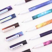 Jonvon Satone 60 Pcs (10 סט) creative כוכב לילה צבע ג ל דיו עט Kawaii ג ל אבזרי בית ספר סיטונאי מכתבים כלים