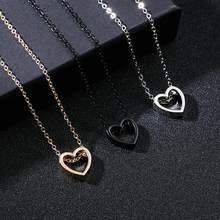 Aushöhlen Liebe Herz Paar Metall Halskette Für Femme Beste Geburtstag Geschenk Halsketten & Anhänger Frauen Männer Liebhaber Schmuck Dropship