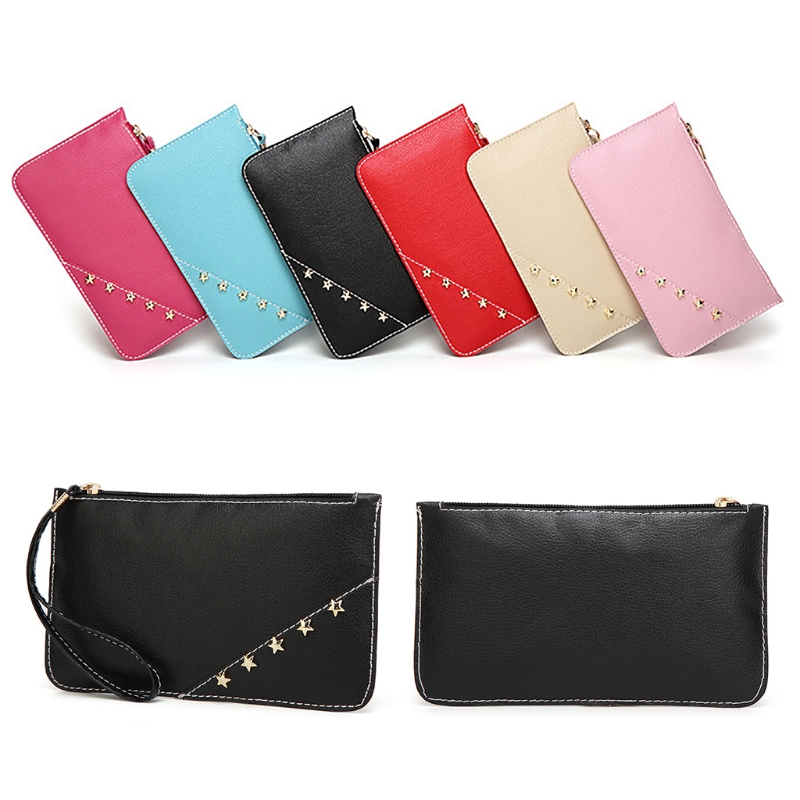 Women Lady Wristband Wallet Long Card