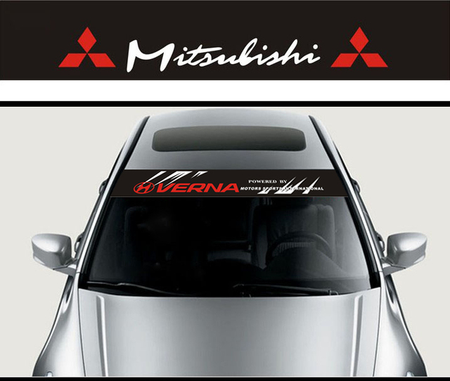 X CM Car Styling Decoration Front Windshield Decal Sticker - Car decal maker