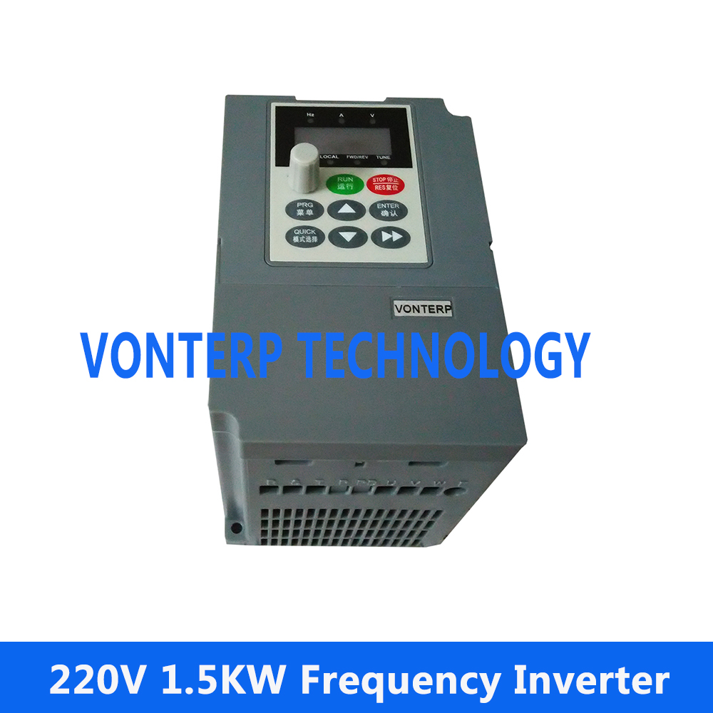 цена на 220v 1.5kw 1 phase input and 220v 3 phase output Variable speed drive