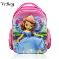 Orthopedic Children School Bags New Kids Girls Backpack Travel Book Bag Princess Sofia the First Schoolbag Daily Preppy ZL310