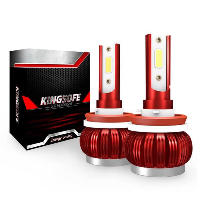 2PCS רכב פנס מנורת H7 H11 LED H4 H1 H8 HB2 9005 H10 HB3 9006 LED ערפל אור הנורה מנורת אוטומטי פנס COB שבב 36W 6000k 12v