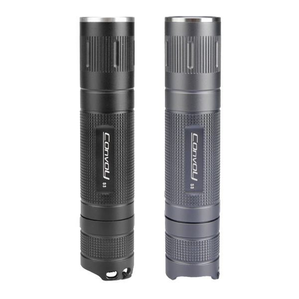 hostitel titanu - NEW Version Convoy Aluminum Alloy S3 Integrated LED Flashlight Black titanium gray color Host For DIY