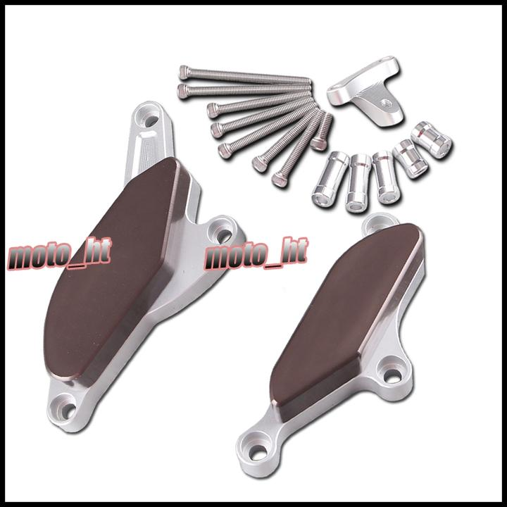 For Kawasaki 2008-2010 ZX-10R Motorcycle Engine Cover Frame Slider Left Right Side, Aluminum, Coffee Color