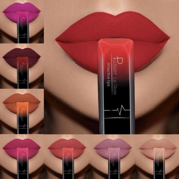 Pudaier 21 Colors Maquiagem Makeup Lipstick Korean Fashion Waterproof Liquid Lipstick Lip Kit Metallic Matte Velvet Lip Gloss 1
