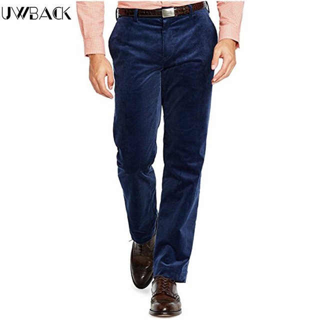 Uwback 2016 New Arrival Casual Pants Men Plus Size Corduroy Straight Winter Men Warm Pants Long Trousers Casual Pants Men CAA168