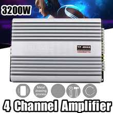 3200W 4 Channel Car Power Amplifier DC 12V Audio Stereo HIFI Amplificador Treble