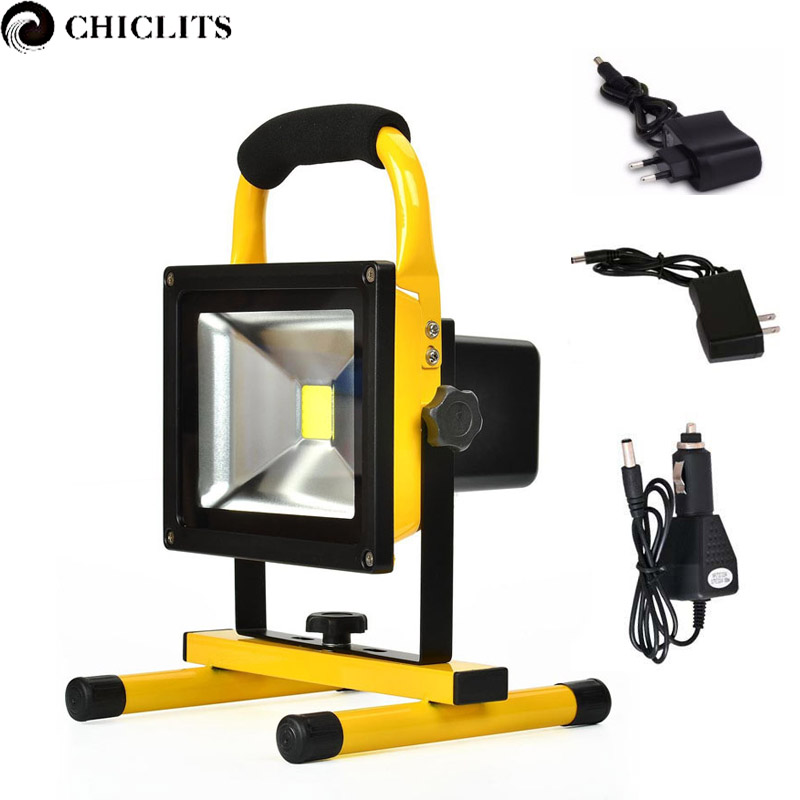 Outdoor Flood Lights Led Spotlights AC 85-265V Rechargeable Led Reflector Lamp 10W 20W Waterproof Camping Security Lights Lampe
