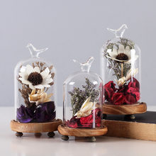 Home Decoration Accessories Glass Cover Greenhouse Micro Landscape Decoration Seal Flower Vase Ornaments Home Office Decor Gifts(China)