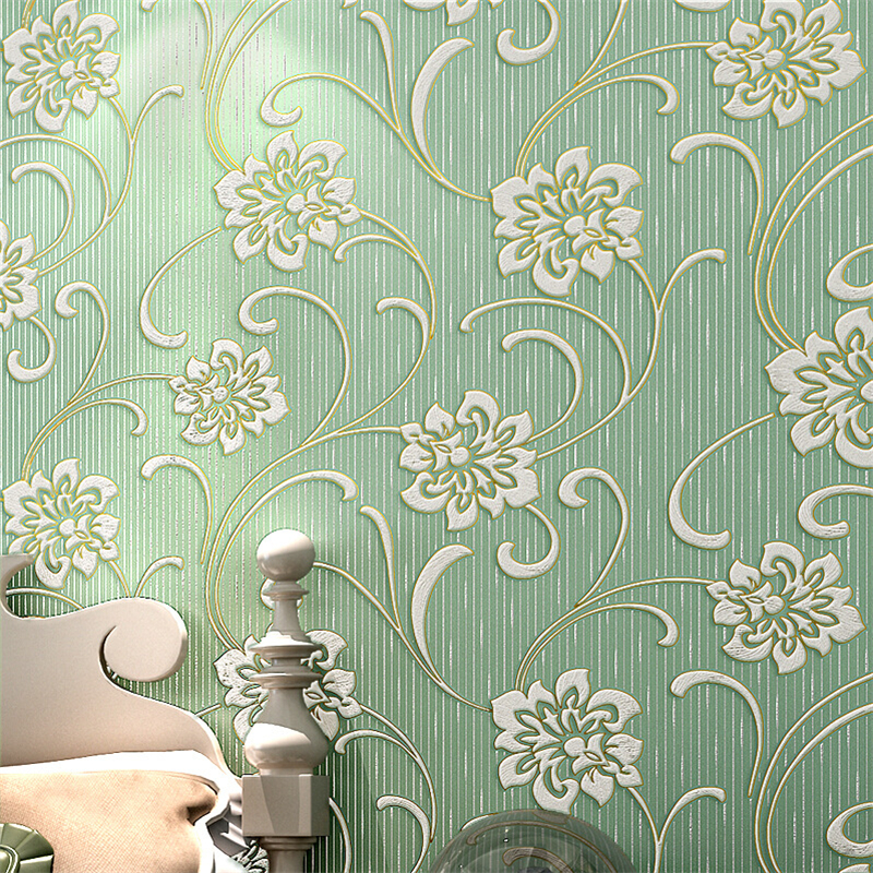 beibehang pastoral flowers Non-woven papel de parede 3D Wallpaper For Walls Wallpaper Roll wall papers home decor papel contact beibehang embossed american pastoral flowers wallpaper roll floral non woven wall paper wallpaper for walls 3 d living room
