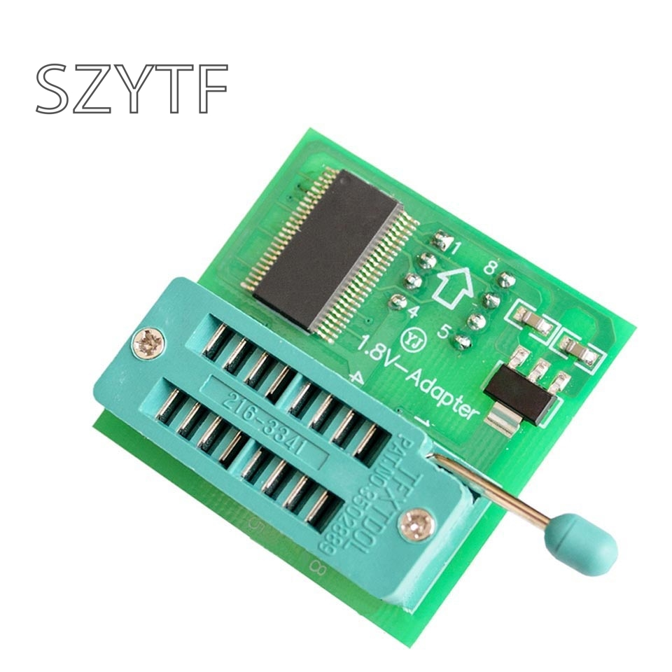 <font><b>1.8V</b></font> Converter Block <font><b>SPI</b></font> <font><b>Flash</b></font> SOP8 DIP8 Conversion Table Board MX25 W25 <font><b>1.8V</b></font> <font><b>Adapter</b></font> Board image