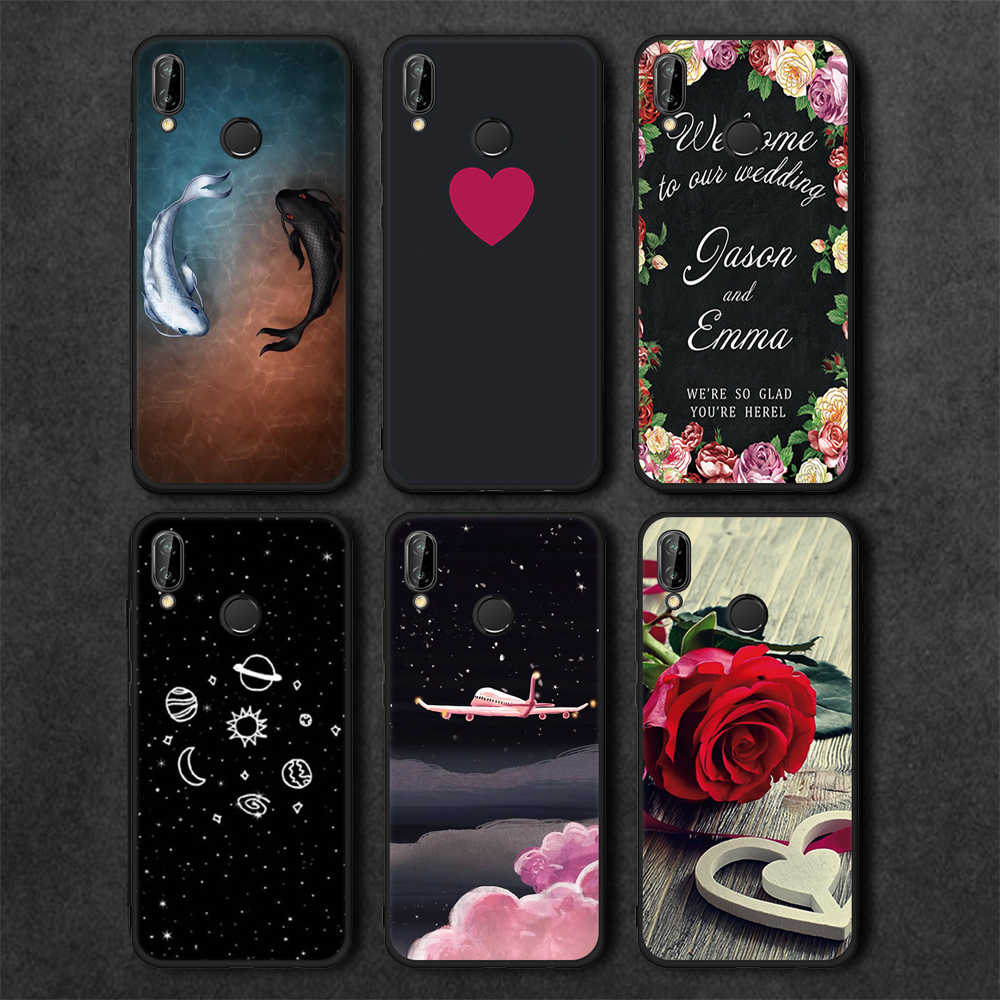 GerTong Planet Matte Case For Huawei Honor 9 Lite 9i Mate 10 Pro P10 P20 Lite P8 P9 Lite 2017 Y9 2018 Enjoy 8 Plus Cute Coques