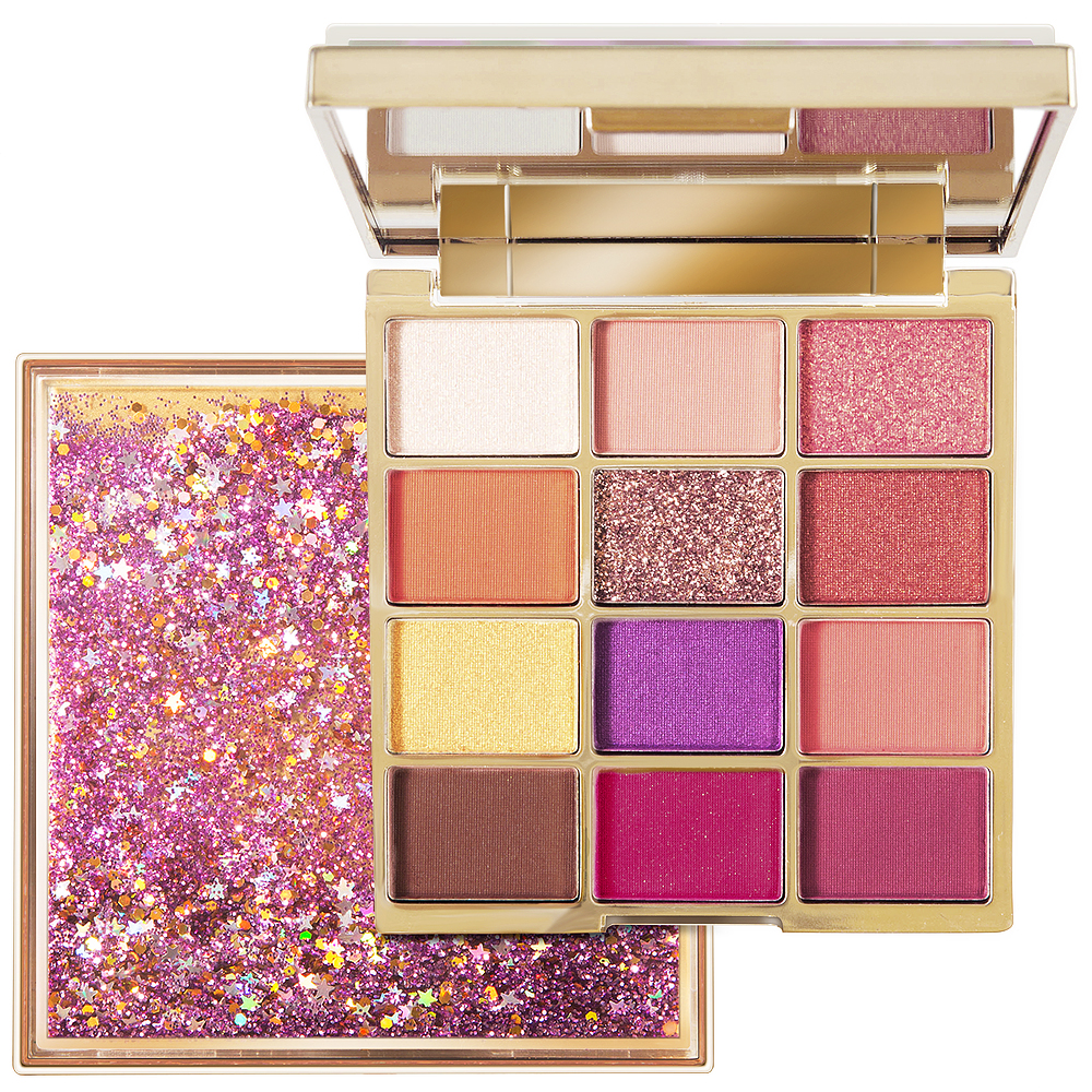 New Glitter Eyeshadow Pallete Pigment Quicksand Eye Shadow 12 Colors Waterproof Shimmer Make up Palette Sombras