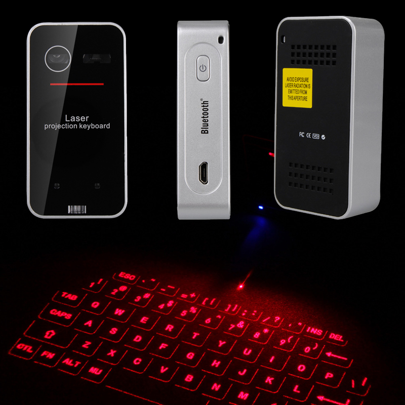 ФОТО Mini Projected Keyboard Wireless Portable Virtual Touch Laser keyboard and mouse for Ipad Iphone Tablet PC Bluetooth Projection