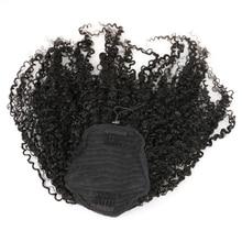 3B 3C Kinky Curly Clip In Ponytail font b Human b font font b Hair b