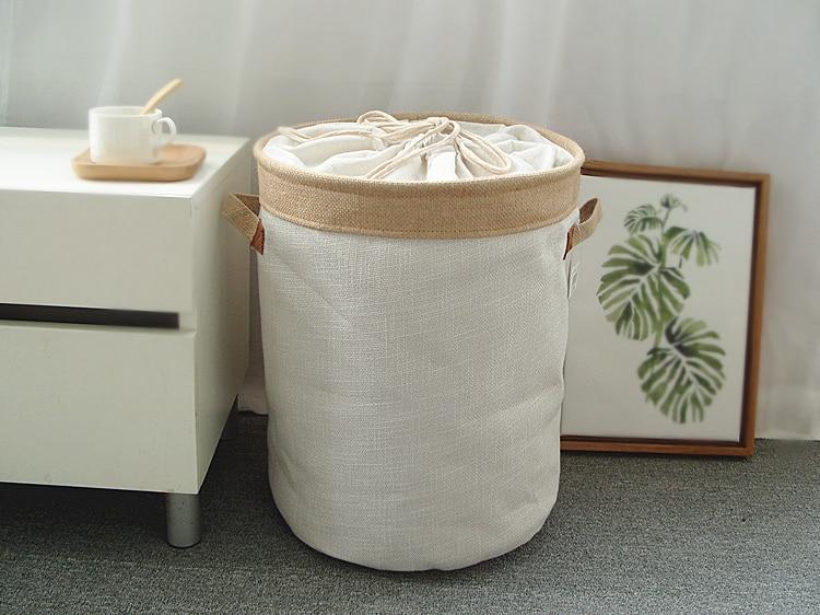 Picnic Basket Stand Laundry Basket Toy Storage Box Super Large Bag Cotton Washing Dirty Clothes Big Basket Organizer Bin Handle