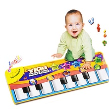 New YIQU Brand Touch Play Keyboard Musical Music Singing Gym Carpet Mat Best play mat Kids Baby Gift tapete infantil nice LD