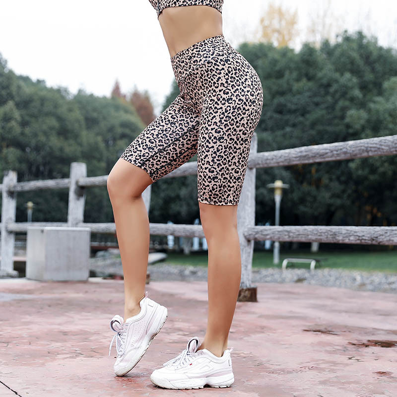 NORMOV Leopard Print   Pants   Women Summer Skinny Casual High Waist Famale Workout Fitness Elastic   Capris   Plus Size