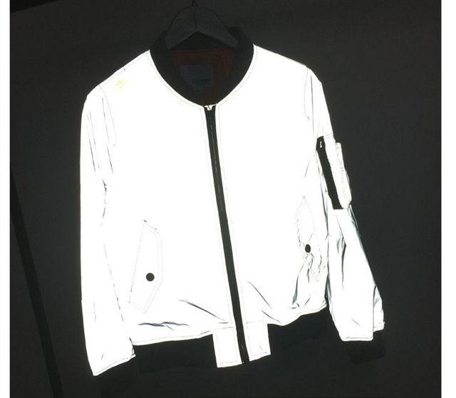 """Мужчины светоотражающие куртка """"пилот"""" хип-хоп пилот рейса куртка ветровка бейсбол Пальто Армии Военная Куртка jaqueta masculina 80602"""