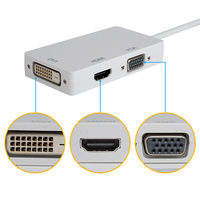 Thunderbolt Mini Display Port To HDMI DVI VGA Converter For Mac Surface MD13A W