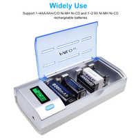 C906W Multi Usage 4 fentes LCD affichage chargeur de batterie pour Nimh Nicd AA/AAA/C/D/9 V batterie Rechargeable