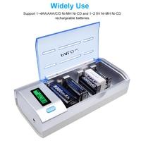 C906w multi uso 4 slots display lcd carregador de bateria para nimh nicd aa/aaa/c/d/9 v bateria recarregável|4 slots|4 slots lcd display|lcd display battery charger -