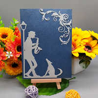 9.4*13cm man and dog new Metal Cutting Dies for decoration card DIY Scrapbooking stencil Paper Craft Album template Dies
