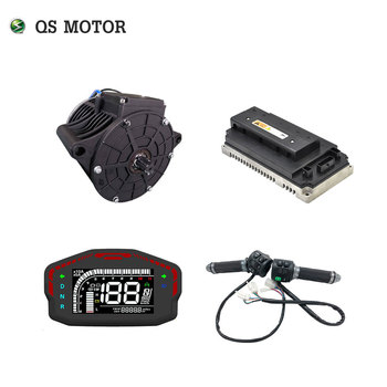 QS 138 3000W 72V 100KPH Mid drive motor power train kits with controller