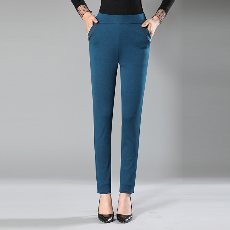 NEW fashion Women 39 s Candy Pants Pencil Trousers Spring Fall Stretch Pants For Women Slim Ladies Jean Trousers Female in Pants amp Capris from Women 39 s Clothing