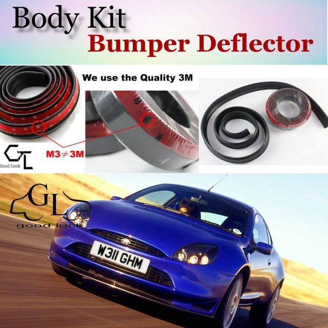 Bumper Lip Deflector Lips For Ford Puma Front Spoiler Skirt For TopGear  Fans Car View Tuning   Body Kit   Strip 3d05320f6