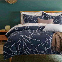Duvet Cover gray wind in Europe and America 2/3pcs Quilt cover pillowcase Home Textile Student Dormitory Home Spinning Products
