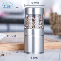 Fast shipping Manual Pepper Mill Stainless Steel Salt and Pepper Grinder Portable Muller for Spice Seasoning Kitchen Tools