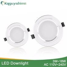 Kaguyahime 1pc/4個3ワットの15ワットledダウンライト110v 220 12vラウンドled天井凹型スポットライト5ワット7ワット9ワット10ワット12ワット15ワットアルミ表面